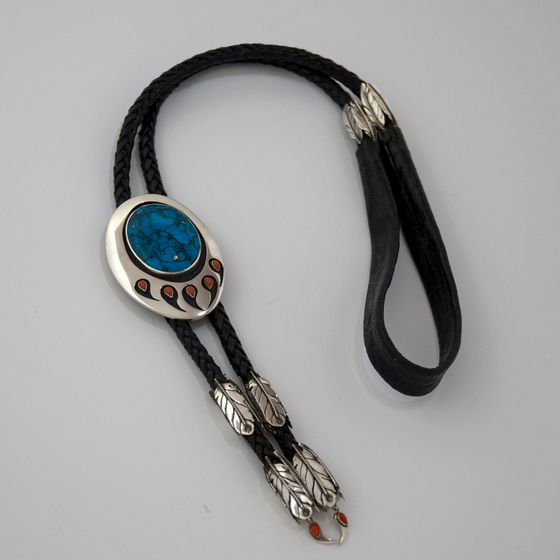 Flight Of The Sun Dancer Native American style warrior bear paw bolo tie