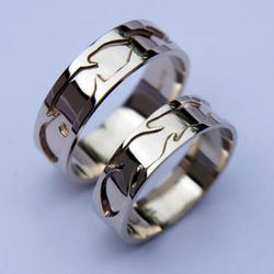 Native American style white gold wedding rings A Spiritual Perception