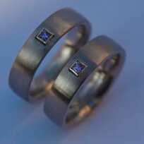 The Color of Love wedding bands