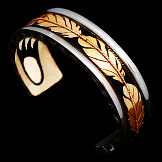 My Spirit Inside Native American style eagle feather cuff bracelet