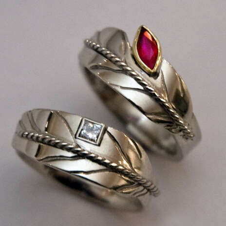 Native American style wedding rings Sky Dreamers
